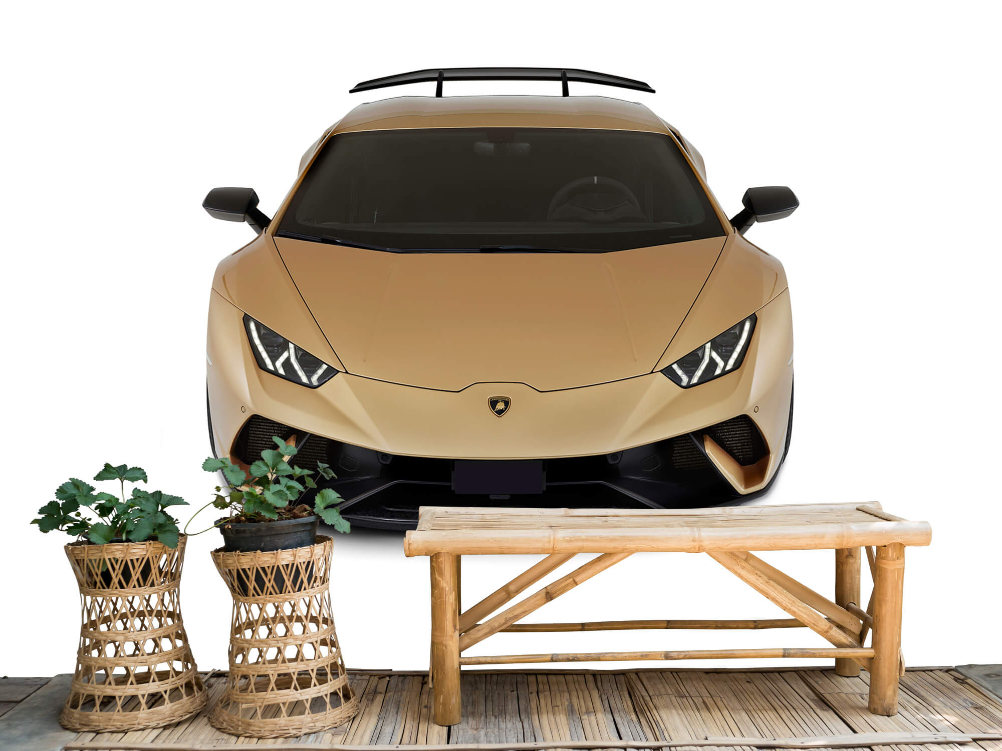 Wallpaper Lamborghini Huracán - Avant du dessus, blanc 3