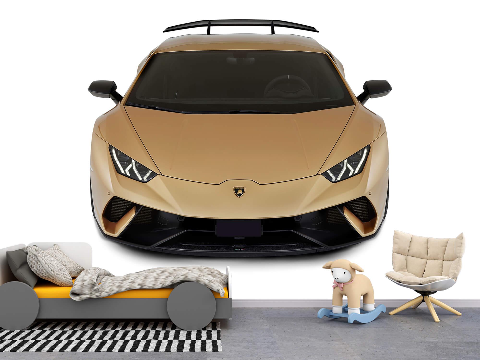 Wallpaper Lamborghini Huracán - Avant du dessus, blanc 10
