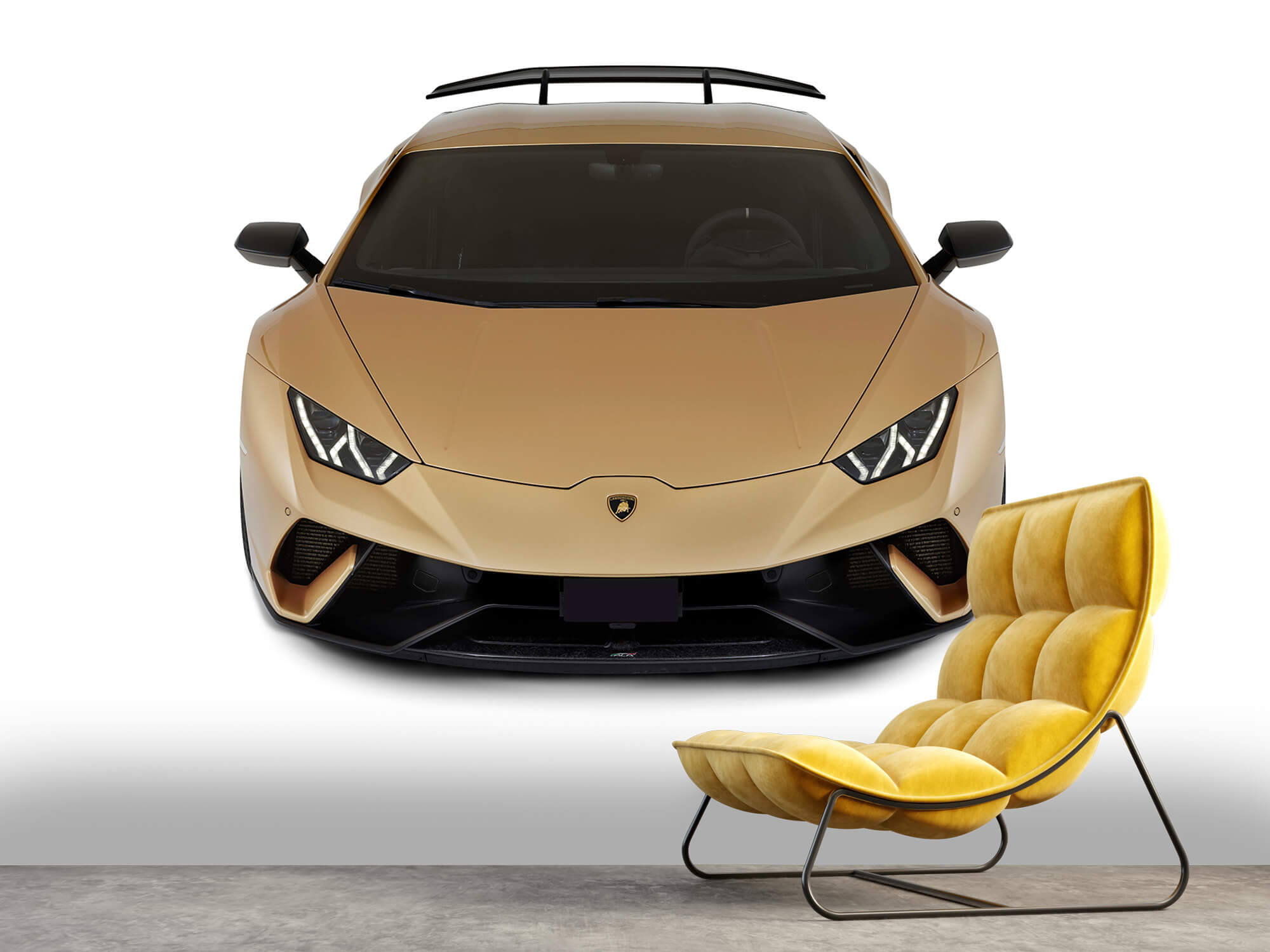 Wallpaper Lamborghini Huracán - Avant du dessus, blanc 12