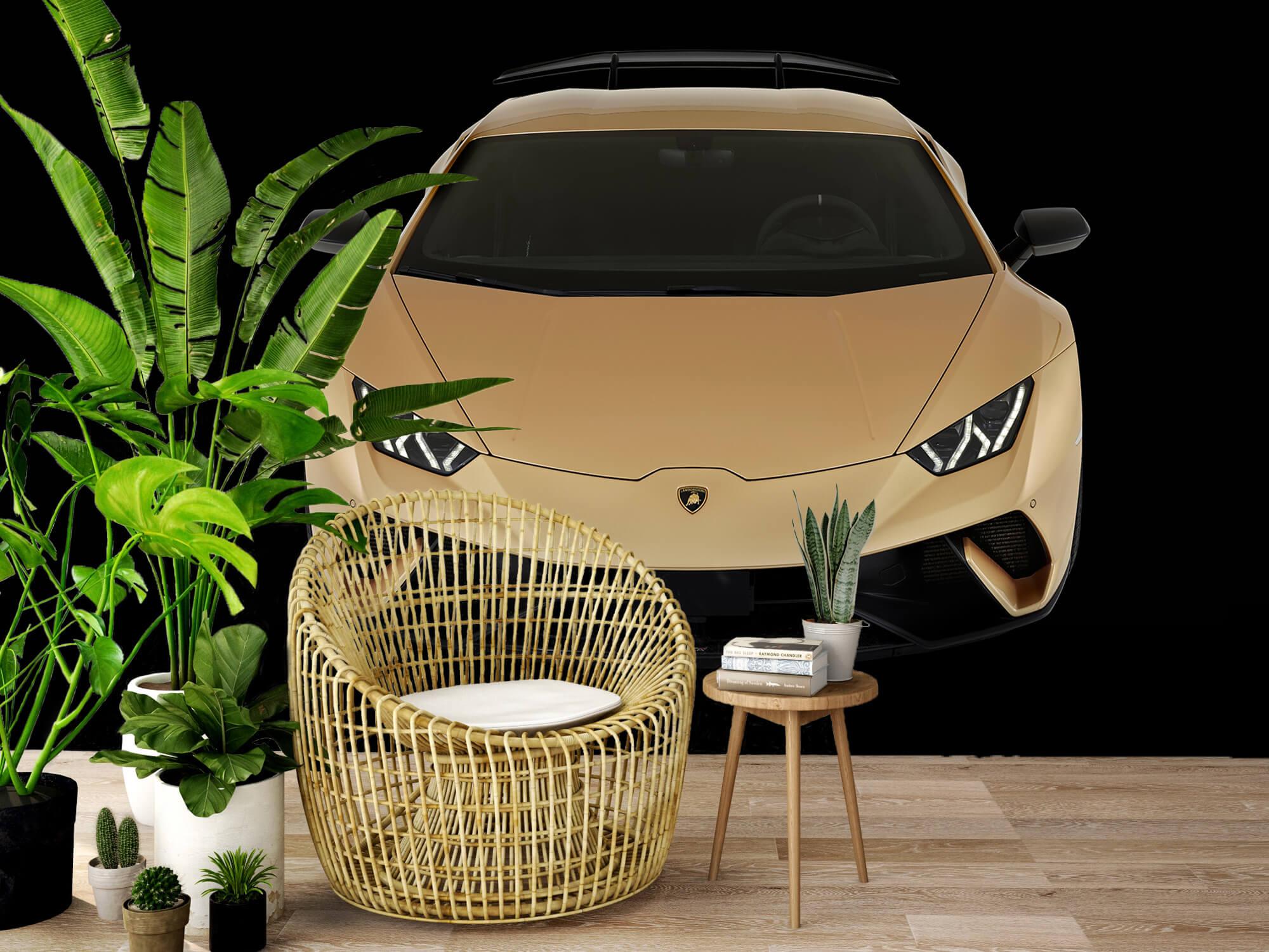 Wallpaper Lamborghini Huracán - Avant du dessus, noir 5