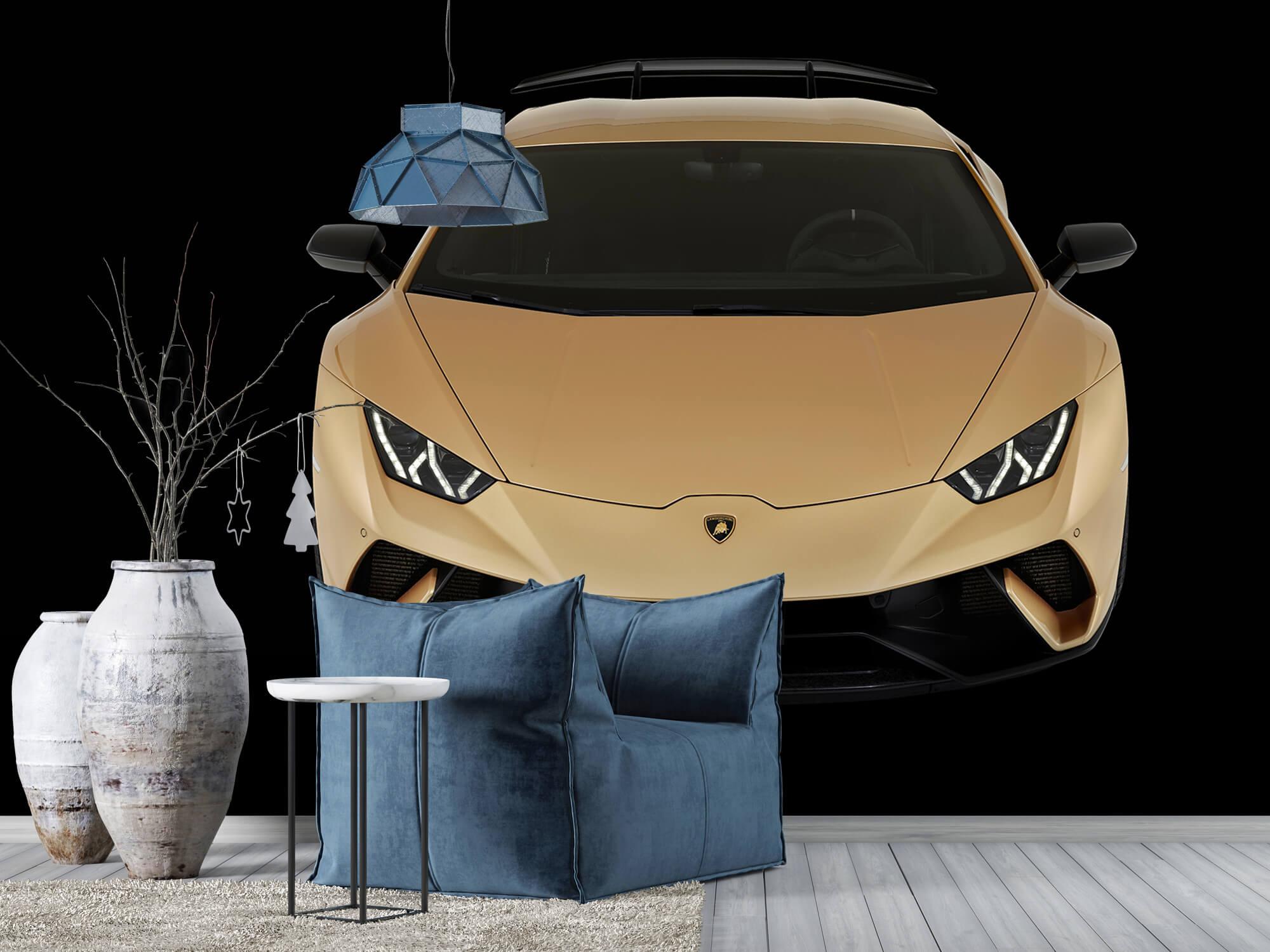 Wallpaper Lamborghini Huracán - Avant du dessus, noir 7