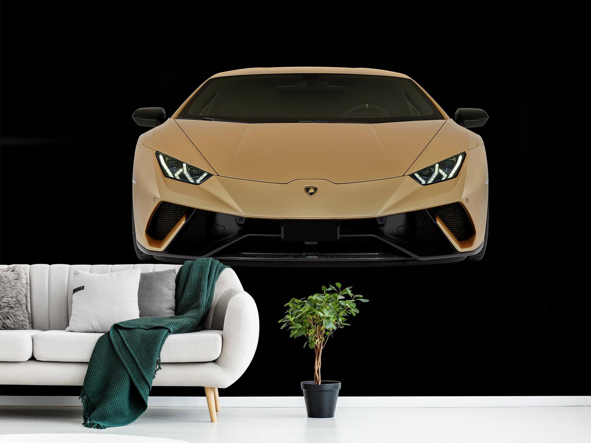Wallpaper Lamborghini Huracán - Avant, noir 1