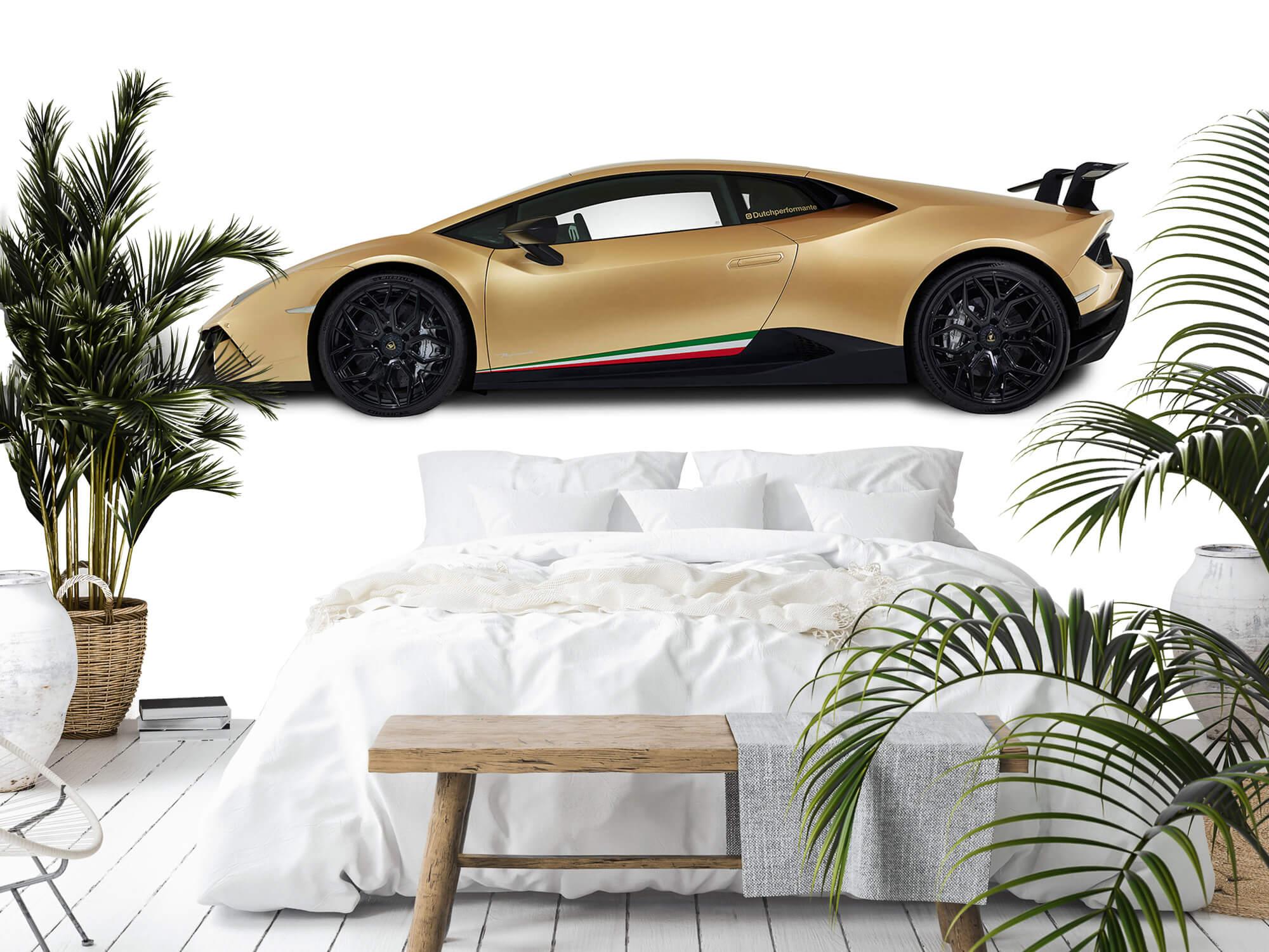 Wallpaper Lamborghini Huracán - Côté, blanc 3