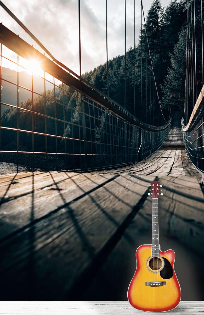 nature Pont suspendu en acier 6