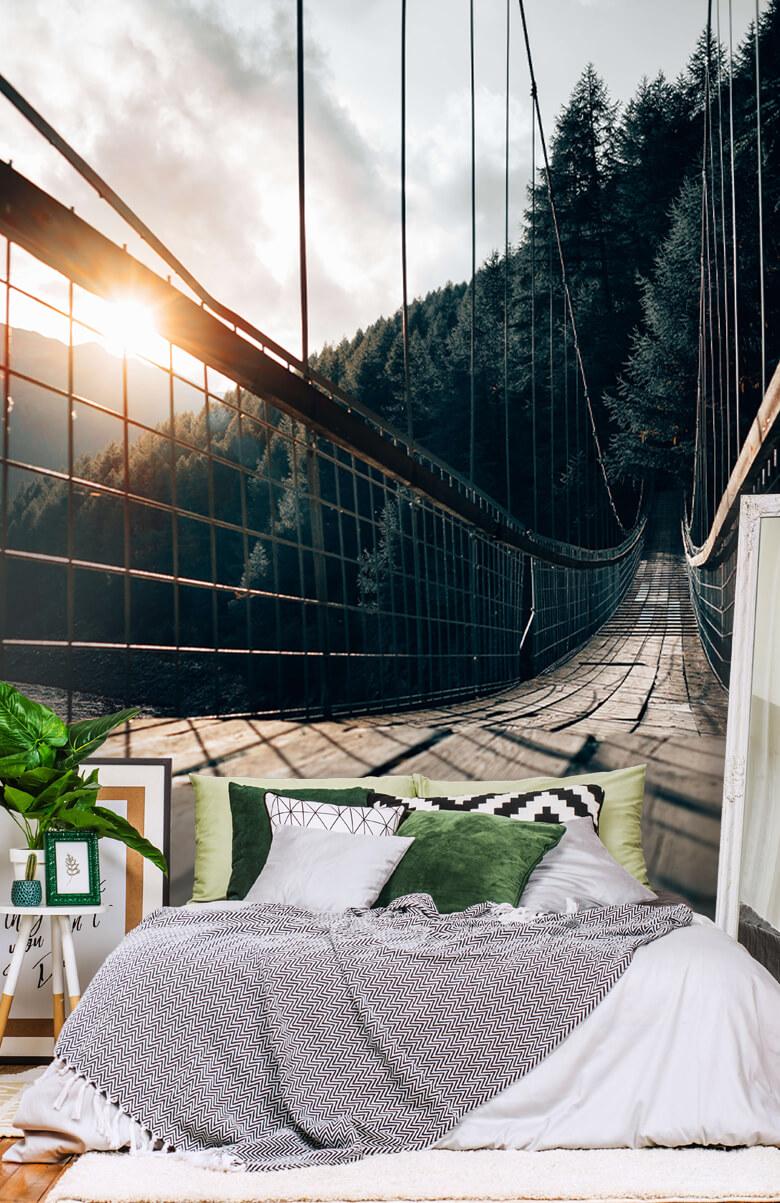 nature Pont suspendu en acier 11