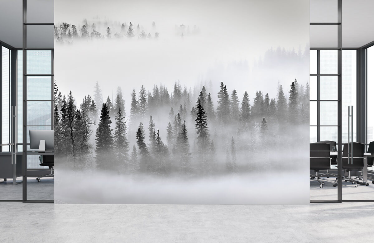 Landschap Foggy Forest 6