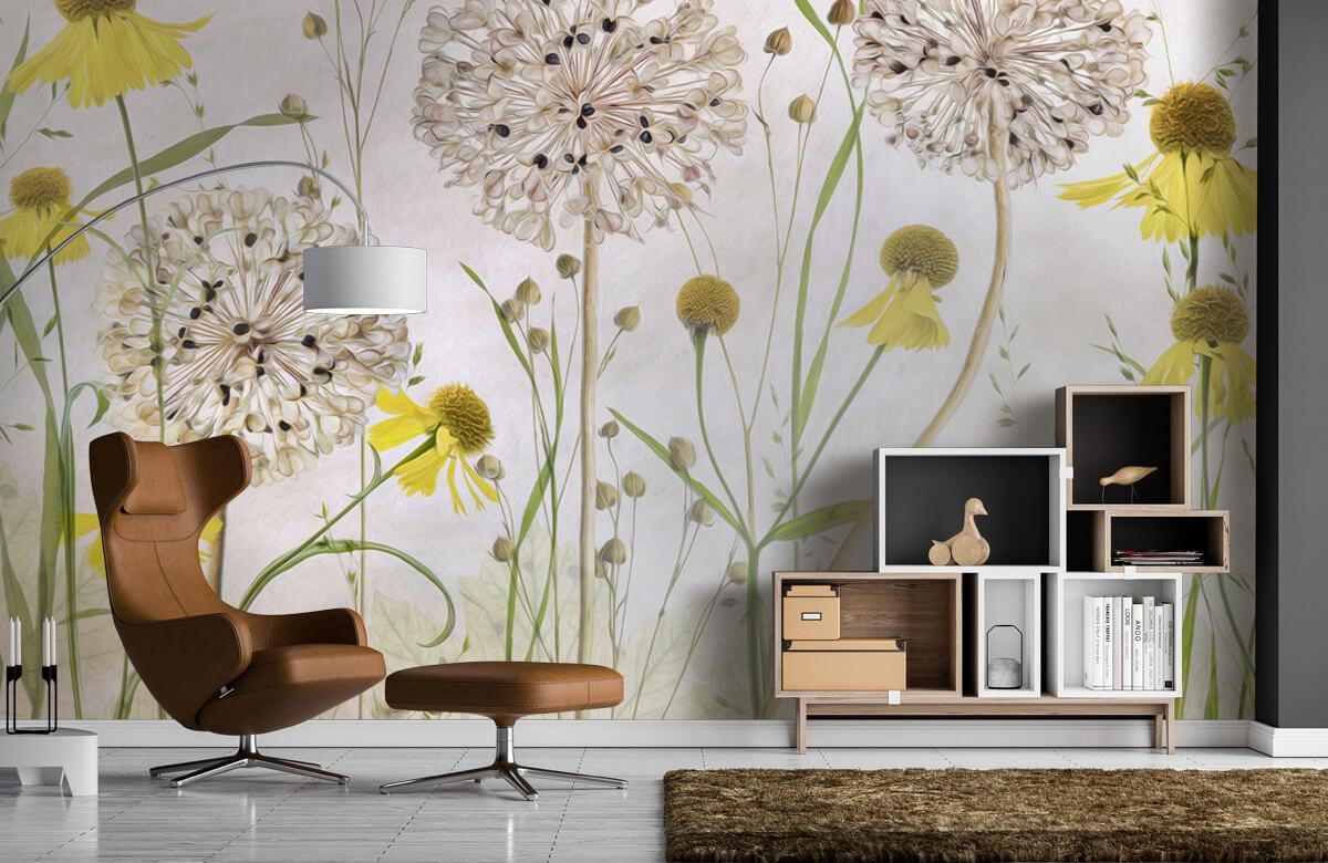 Stilleven Alliums and heleniums 7