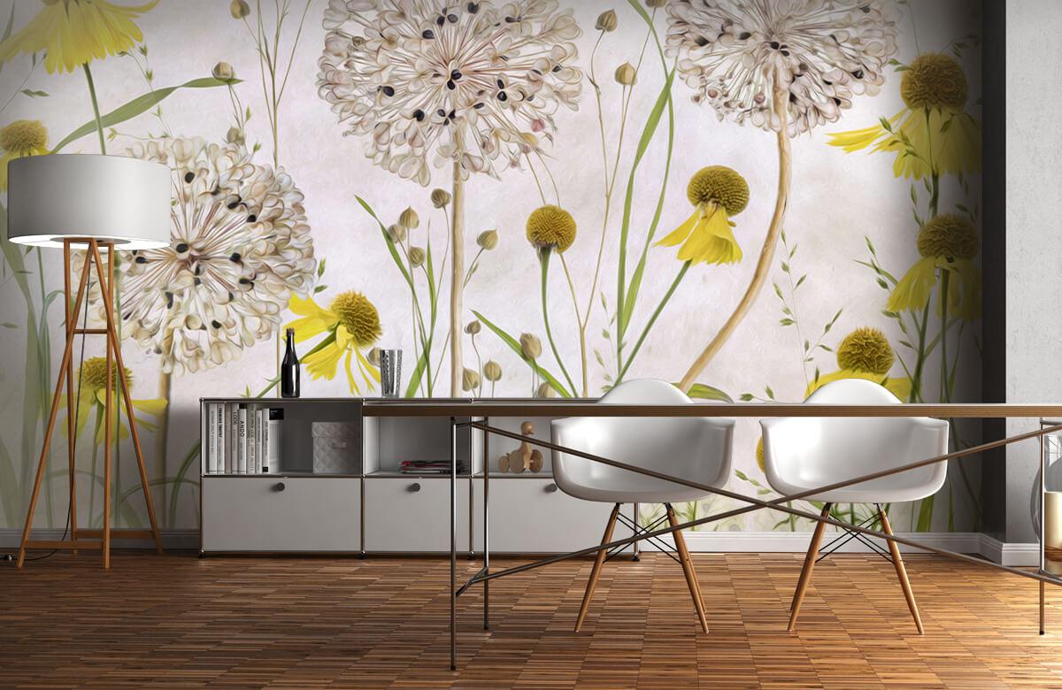 Stilleven Alliums and heleniums 1