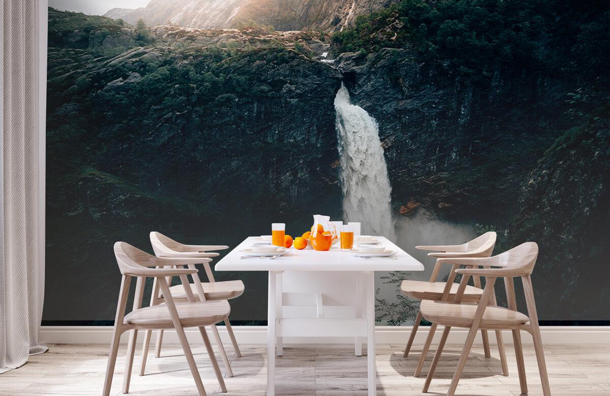 Wallpaper Une impressionnante chute d'eau 4