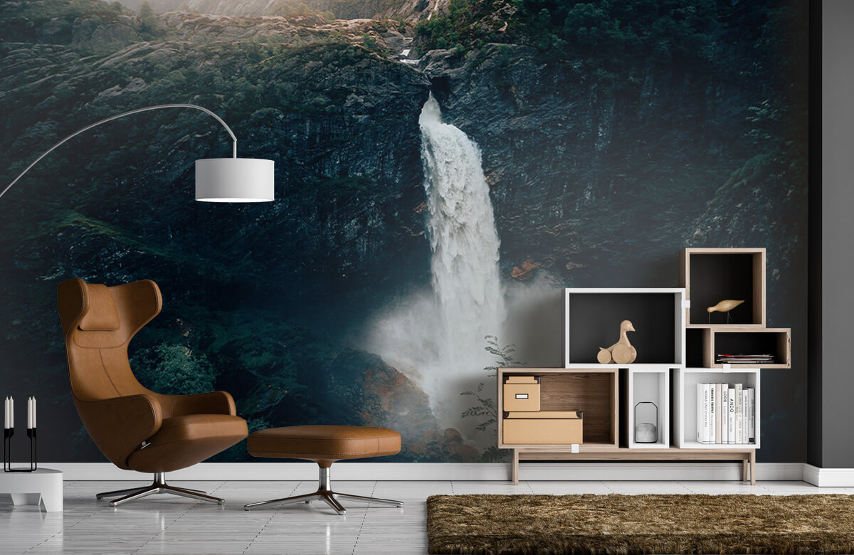 Wallpaper Une impressionnante chute d'eau 7