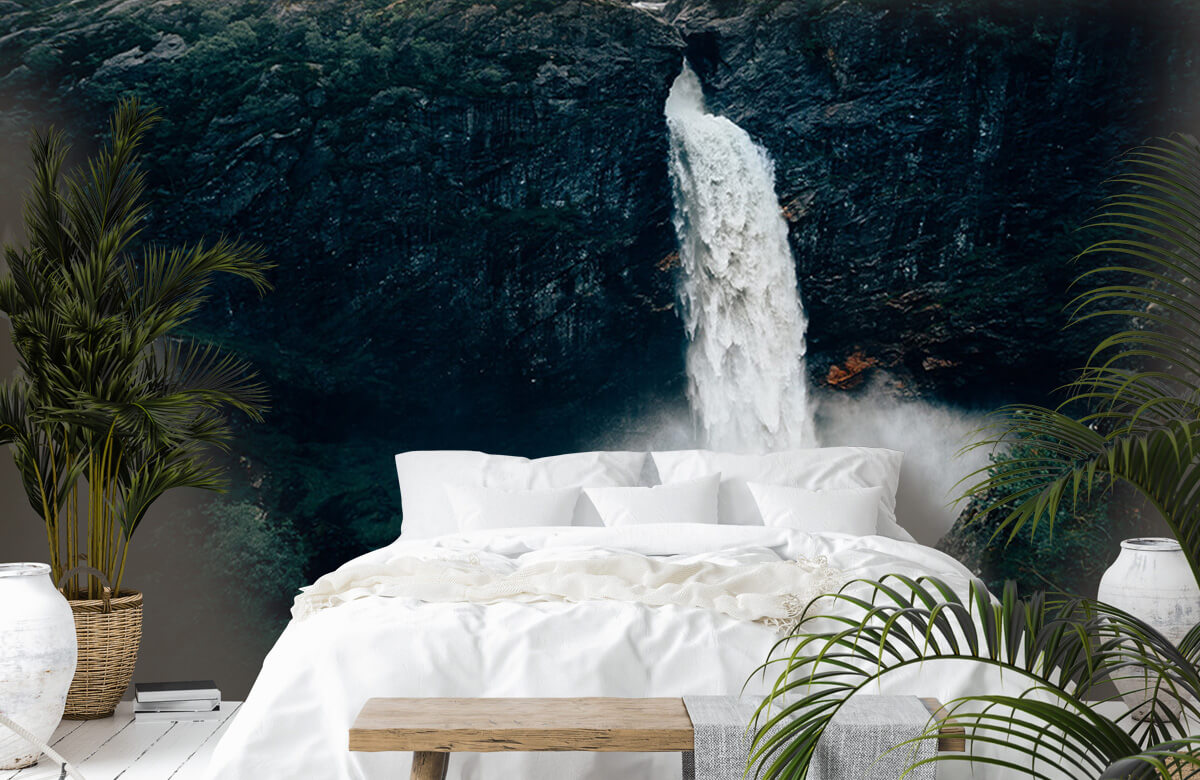 Wallpaper Une impressionnante chute d'eau 8