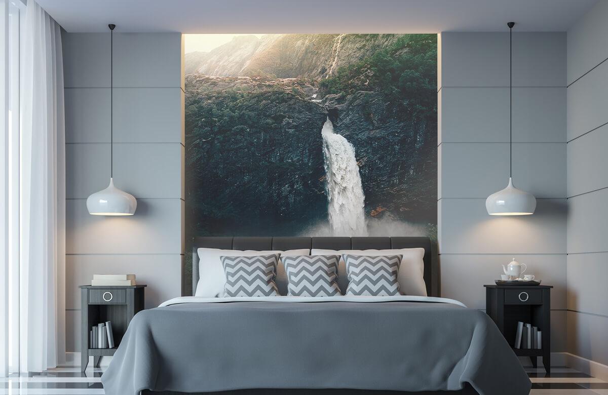 Wallpaper Une impressionnante chute d'eau 11