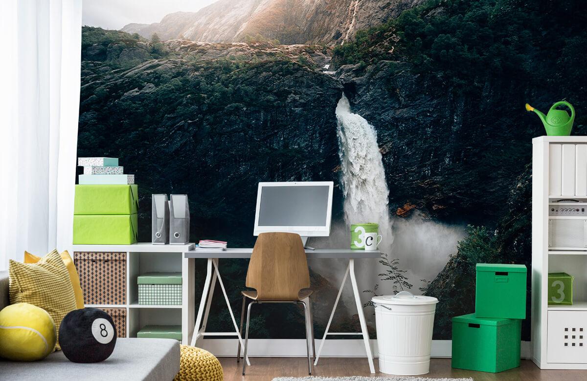 Wallpaper Une impressionnante chute d'eau 10