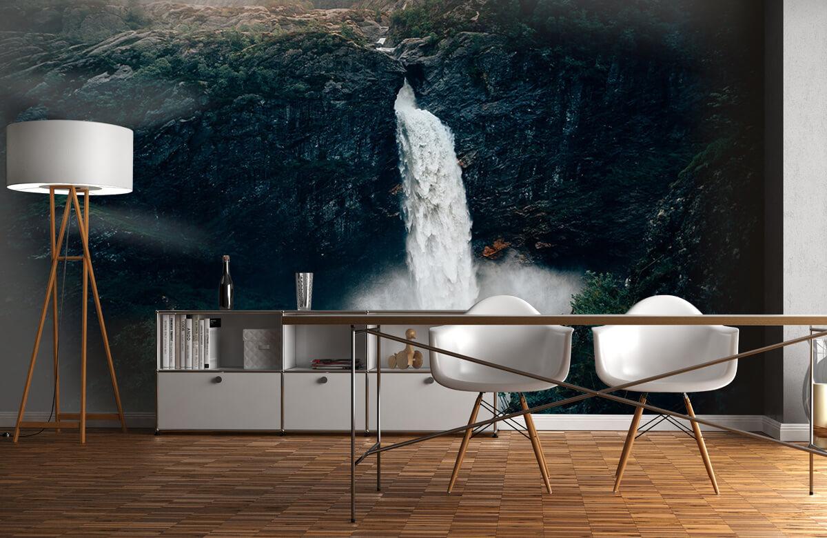 Wallpaper Une impressionnante chute d'eau 1