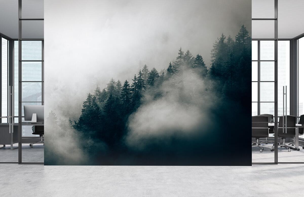 Wallpaper Matin alpin brumeux 6