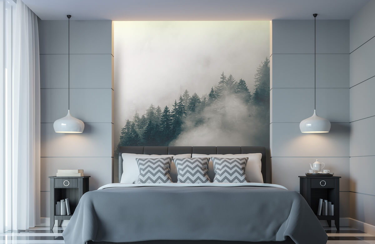 Wallpaper Matin alpin brumeux 8