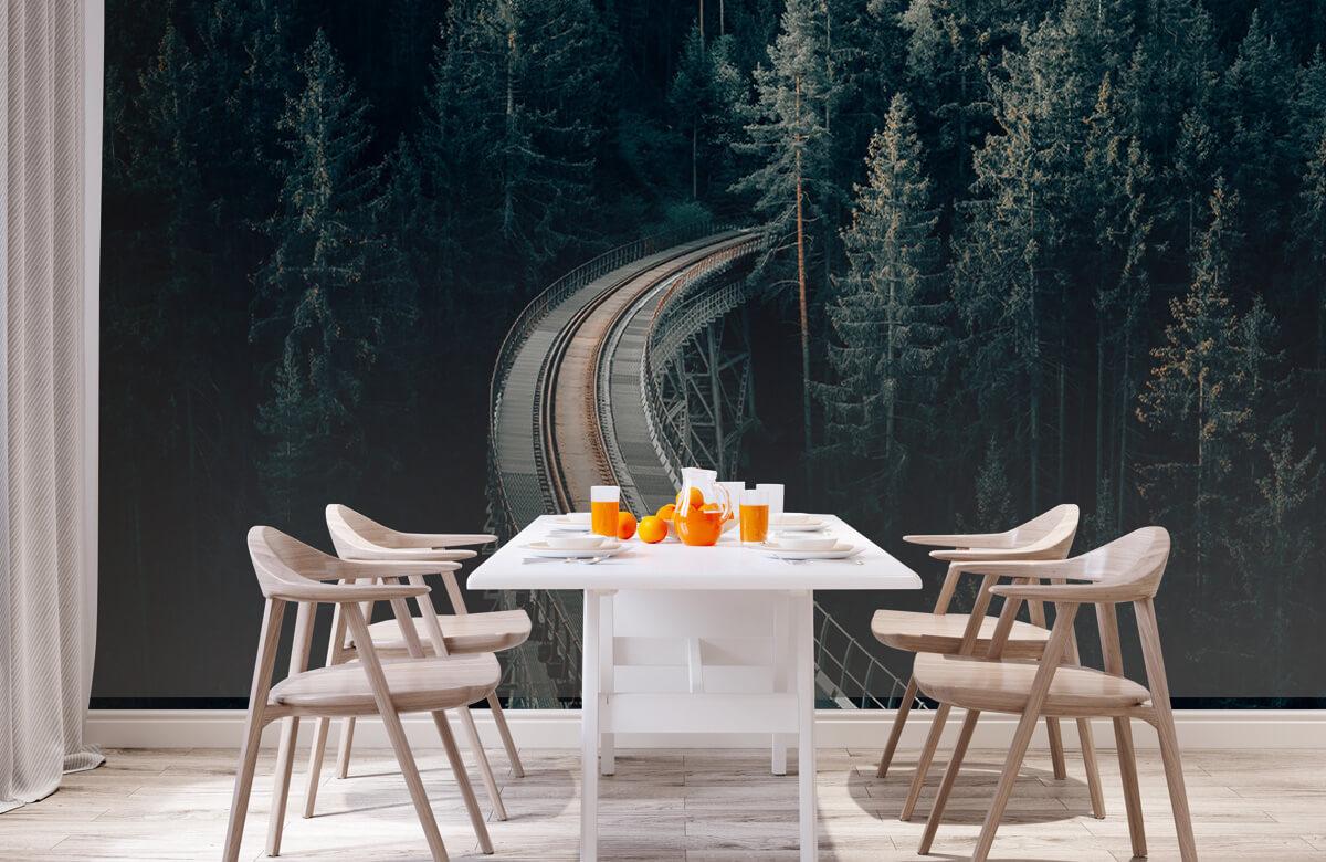 Wallpaper Une vieille voie ferrée abandonnée 2