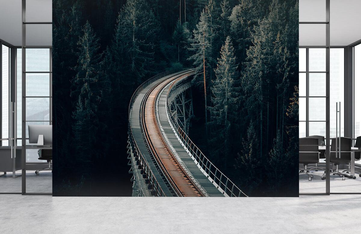 Wallpaper Une vieille voie ferrée abandonnée 6