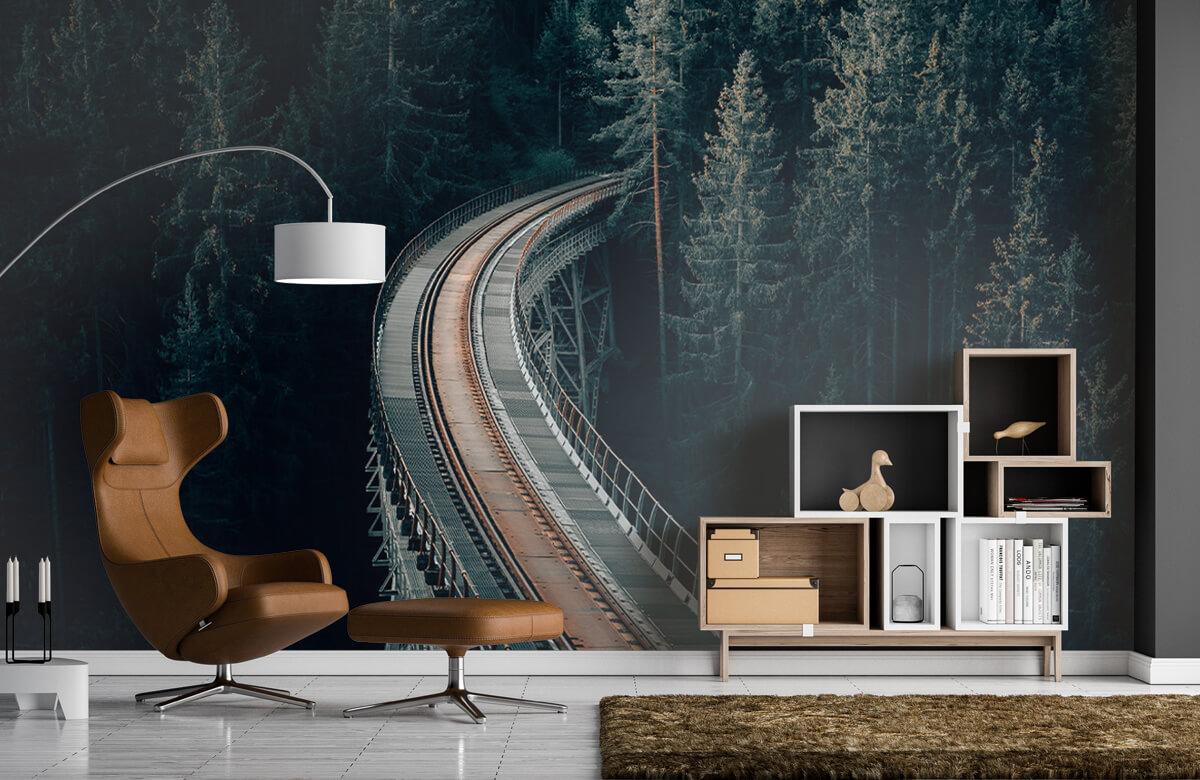 Wallpaper Une vieille voie ferrée abandonnée 7