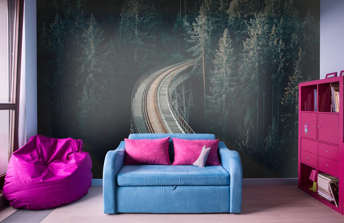 Wallpaper Une vieille voie ferrée abandonnée 4