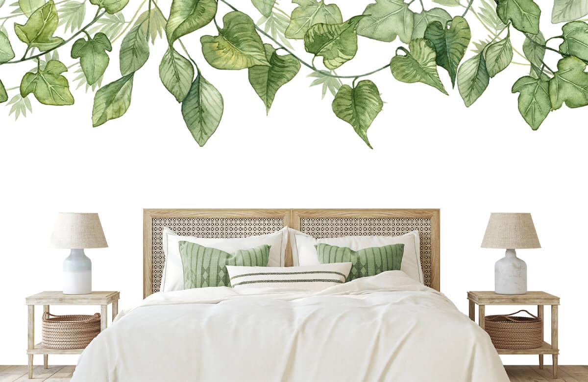 Des feuilles à l'aquarelle suspendues 1