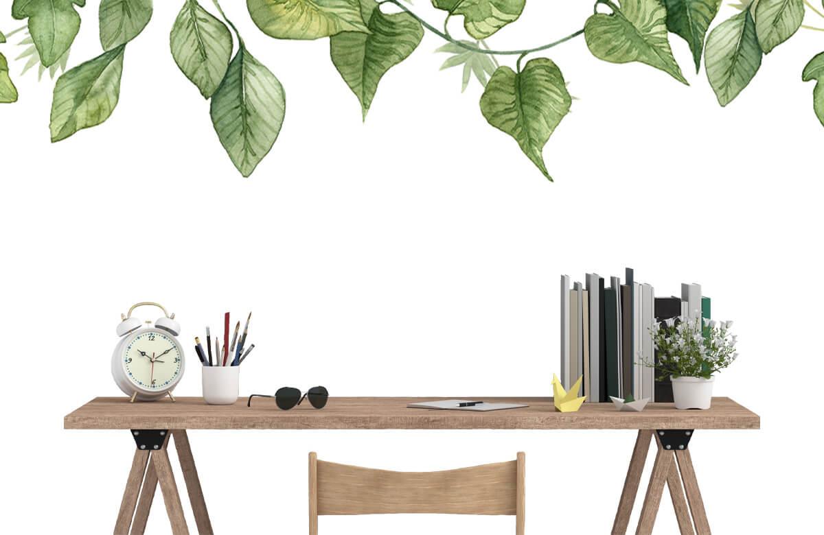 Des feuilles à l'aquarelle suspendues 8