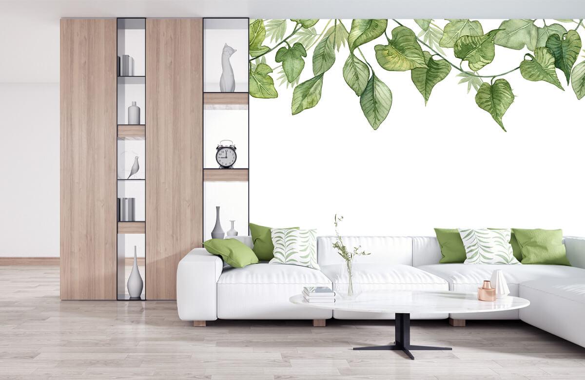 Des feuilles à l'aquarelle suspendues 2