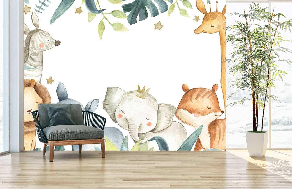 wallpaper Assortiment d'animaux de la jungle 2