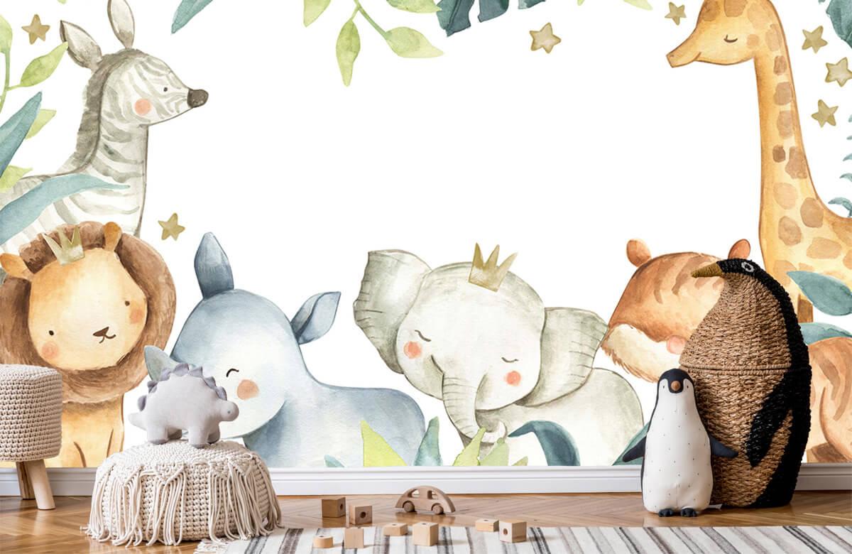wallpaper Assortiment d'animaux de la jungle 7