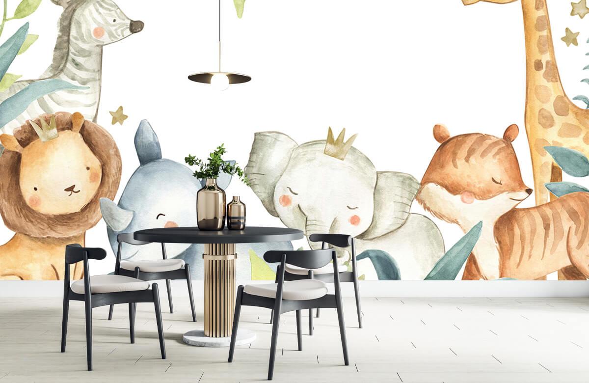 wallpaper Assortiment d'animaux de la jungle 9