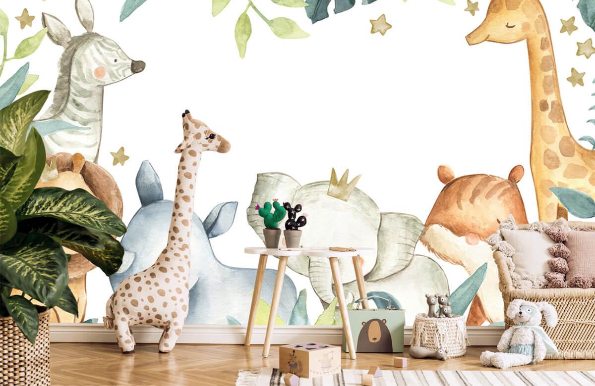 wallpaper Assortiment d'animaux de la jungle 10
