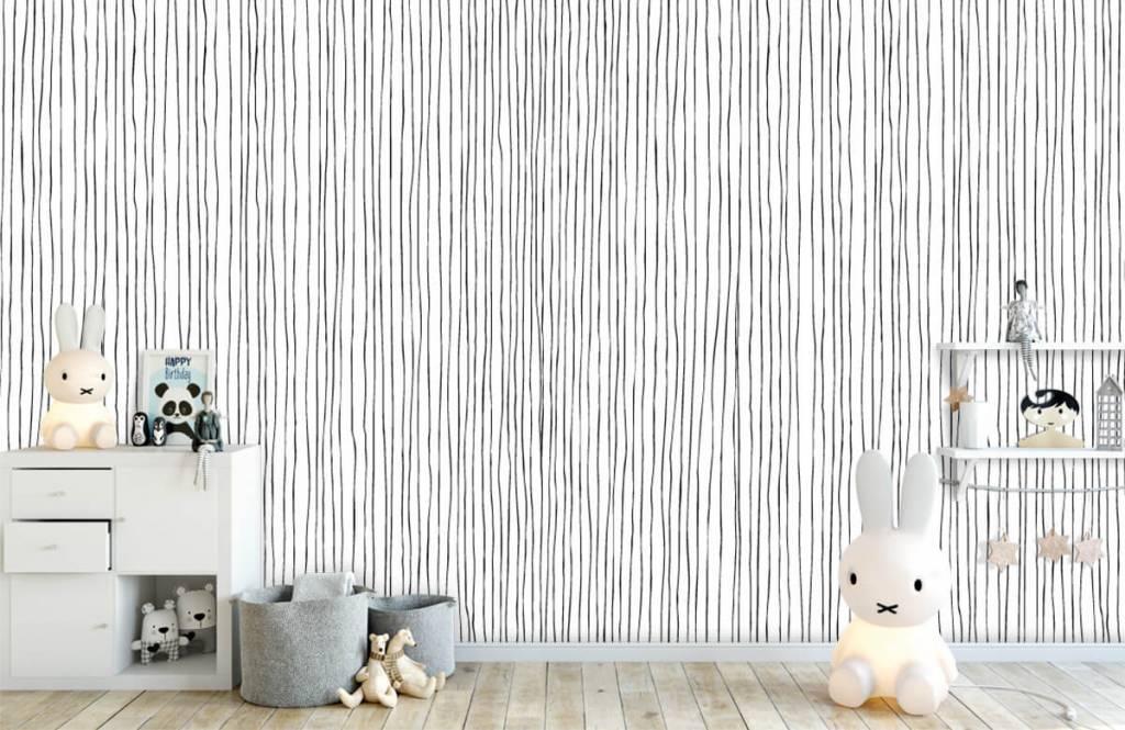 Abstrait - Lignes abstraites en noir et blanc - Entrepôt 4